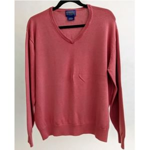 Pendleton Men's Coral V-Neck Sweater